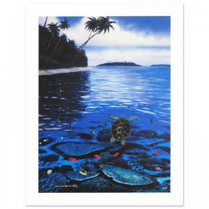 Two Worlds of Paradise Limited Edition Giclee on Canvas by Renowned Artist Wyland