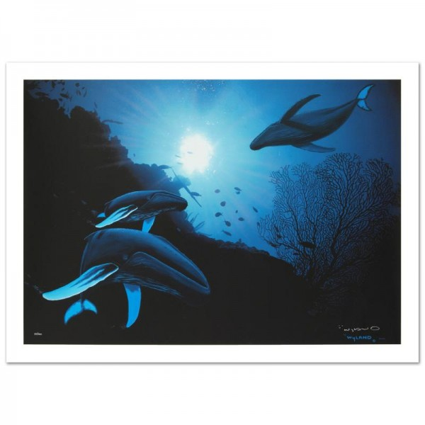 """Whale Vision Limited Edition Giclee on Canvas (42"""" x 30"""") by Renowned Artist Wyland"""