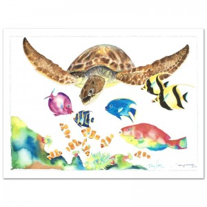"Something Fishee Limited Edition Giclee on Canvas (41"" x 29.5"") by Wyland"