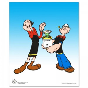 Popeye Spinach Limited Edition Popeye Sericel with Official King Features Syndicate Seal! Includes Certificate of Authenticity!