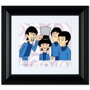 The Beatles: Ringo's Top Hat Limited Edition Sericel Recreated From The Beatles Saturday Morning Cartoon Series! Includes Certificate of Authenticity and Official DenniLu Company Stamp! Custom Framed and Ready to Hang!