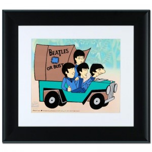 Beatles or Bust! Limited Edition Sericel Recreated From The Beatles Saturday Morning Cartoon Series! Includes Certificate of Authenticity and Official DenniLu Company Stamp! Custom Framed and Ready to Hang!