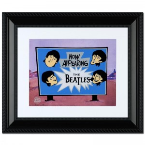 Now Appearing: The Beatles! Limited Edition Sericel Recreated From The Beatles Saturday Morning Cartoon Series! Includes Certificate of Authenticity and Official DenniLu Company Stamp! Custom Framed and Ready to Hang!