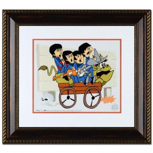 The Beatles: Bullride Limited Edition Sericel Recreated From The Beatles Saturday Morning Cartoon Series! Includes Certificate of Authenticity and Official DenniLu Company Stamp! Custom Framed and Ready to Hang!