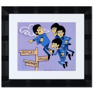 The Beatles: In Air Limited Edition Sericel Recreated From The Beatles Saturday Morning Cartoon Series! Includes Certificate of Authenticity and Official DenniLu Company Stamp! Custom Framed and Ready to Hang!