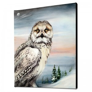 Snow Owl in Alaska Limited Edition Giclee on Canvas by Martin Katon