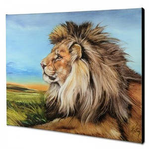 Guardian Lion Limited Edition Giclee on Canvas by Martin Katon
