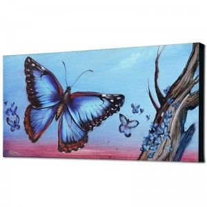 Morpho Butterflies Limited Edition Giclee on Canvas by Martin Katon