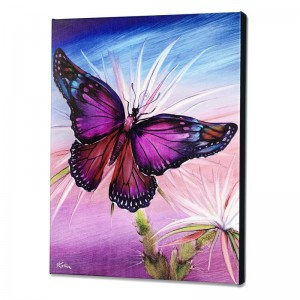 Rainbow Butterfly Limited Edition Giclee on Canvas by Martin Katon