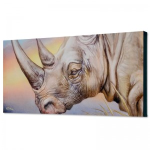 White Rhino Limited Edition Giclee on Canvas by Martin Katon