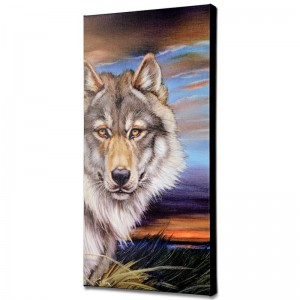 Wolf Limited Edition Giclee on Canvas by Martin Katon