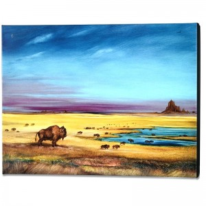 Where the Buffalo... Limited Edition Giclee on Gallery Wrapped Canvas by Martin Katon