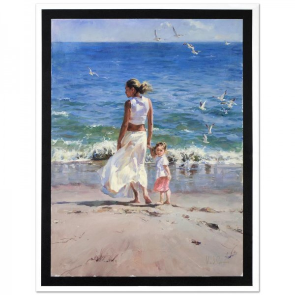 "Ocean for Two Limited Edition Hand Embellished Giclee on Canvas (30"" x 40"") by Mikhail and Inessa Garmash"