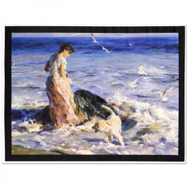 """Moments In The Sun Limited Edition Hand Embellished Giclee on Canvas (48"""" x 36"""") by Mikhail and Inessa Garmash"""