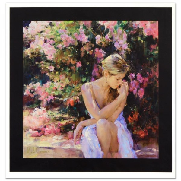 Blooming Beauty Limited Edition Hand Embellished Giclee on Canvas by Mikhail and Inessa Garmash
