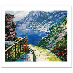 The Road to Positano Limited Edition Serigraph by Howard Behrens (1933-2014)