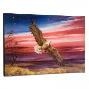 Red White and Blue Limited Edition Giclee on Gallery Wrapped Canvas by Martin Katon