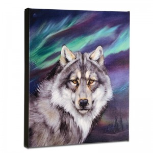 Wolf Lights II Limited Edition Giclee on Gallery Wrapped Canvas by Martin Katon