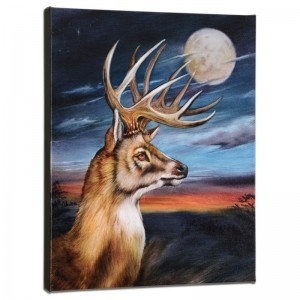 White Tail Moon Limited Edition Giclee on Gallery Wrapped Canvas by Martin Katon
