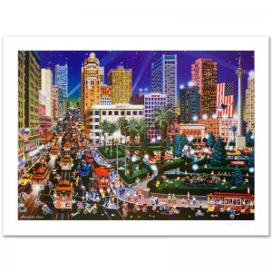 Union Square Limited Edition Lithograph by Alexander Chen! Numbered and Hand Signed with Certificate of Authenticity!