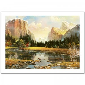 Yosemite Splendor Limited Edition Lithograph by Alexander Chen! Numbered and Hand Signed with Certificate of Authenticity!
