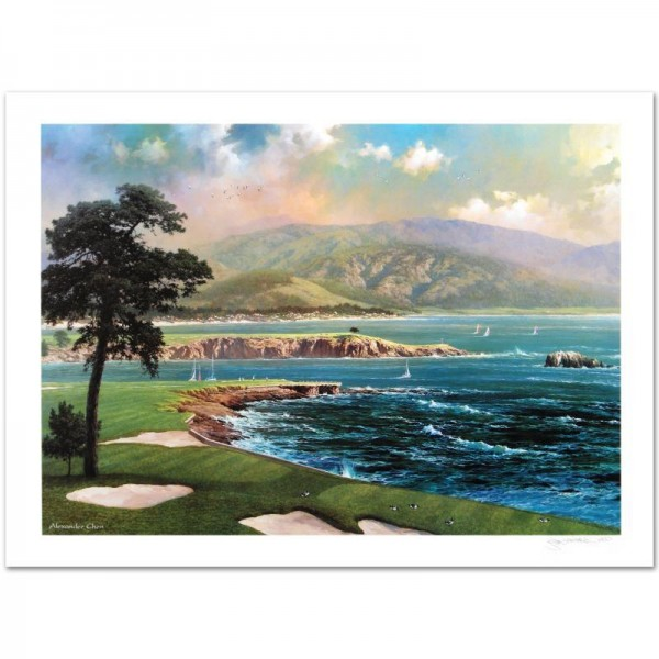 On a Clear Day Limited Edition Lithograph by Alexander Chen! Numbered and Hand Signed with Certificate of Authenticity!
