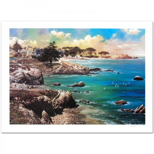 Along the Coast Limited Edition Lithograph by Alexander Chen! Numbered and Hand Signed with Certificate of Authenticity!