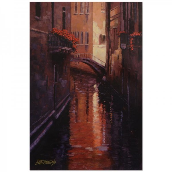 "Howard Behrens (1933-2014) - ""Evening Shadows - Venice"" Limited Edition Hand Embellished Giclee on Canvas"
