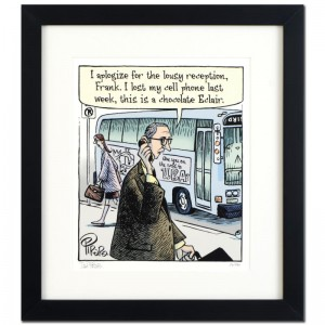 "Bizarro! ""Eclair Cell Phone"" is a Framed Limited Edition which is Numbered"