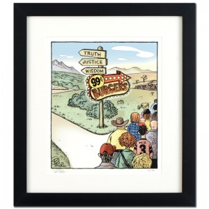 "Bizarro! ""Burger Wisdom"" is a Framed Limited Edition which is Numbered"