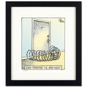 "Bizarro! ""Baby Proof"" is a Framed Limited Edition which is Numbered"
