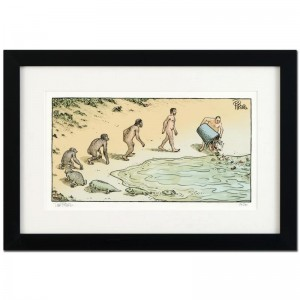 "Bizarro! ""Evolution Trash"" is a Framed Limited Edition which is Numbered"