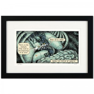 "Bizarro! ""Inside Liberty"" is a Framed Limited Edition which is Numbered"