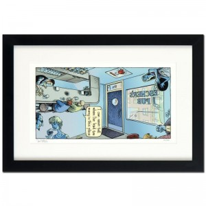 "Bizarro! ""Escher's Pub"" is a Framed Limited Edition which is Numbered"
