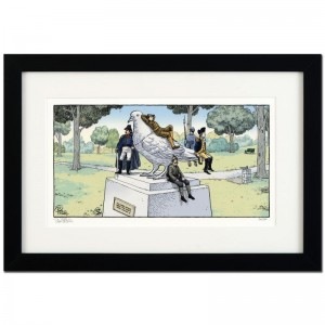 "Bizarro! ""Pigeon Statue"" is a Framed Limited Edition which is Numbered"