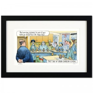 "Bizarro! ""Brain Surgeon School"" is a Framed Limited Edition which is Numbered"