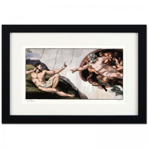 "Bizarro! ""Interruption of Adam"" is a Framed Limited Edition which is Numbered"