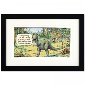 "Bizarro! ""Flintstones"" is a Framed Limited Edition which is Numbered"