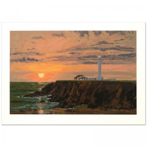 "Lindsay Dawson - ""Point Arena"" Limited Edition Serigraph Numbered and Hand Signed with Certificate of Authenticity!"