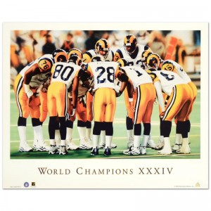 "Daniel M. Smith - ""World Champion XXXIV (Rams)"" Limited Edition Lithograph Dated (2000)"