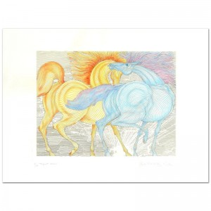"Guillaume Azoulay - ""Tryst"" Limited Edition Hand-Watercolored Etching"