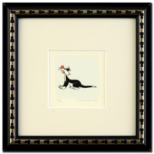 Sylvester Framed Limited Edition Etching with Hand-Tinted Color (Dated 1999)!