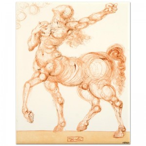 "Salvador Dali (1904-1989) - ""The Centaur"" SOLD OUT Limited Edition Glazed Ceramic Tile"