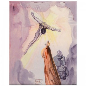 "Salvador Dali (1904-1989) - ""The Apparition of Christ"" SOLD OUT Limited Edition Glazed Ceramic Tile"