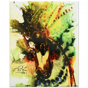 "Salvador Dali (1904-1989) - ""Bucephalus"" SOLD OUT Limited Edition Glazed Ceramic Tile"