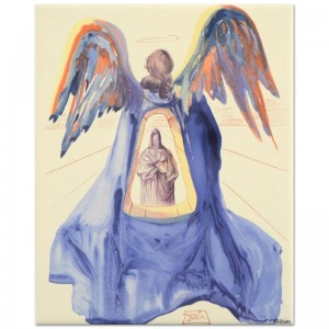 "Salvador Dali (1904-1989) - ""Dante Purified"" SOLD OUT Limited Edition Glazed Ceramic Tile"