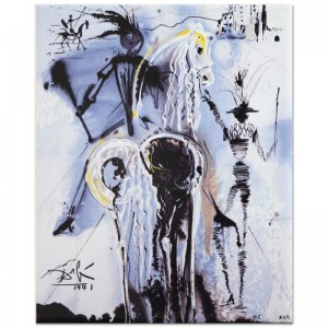 "Salvador Dali (1904-1989) - ""Don Quixote"" SOLD OUT Limited Edition Glazed Ceramic Tile"