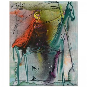 "Salvador Dali (1904-1989) - ""Horse of Death"" SOLD OUT Limited Edition Glazed Ceramic Tile"