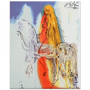 "Salvador Dali (1904-1989) - ""Lady Godiva"" SOLD OUT Limited Edition Glazed Ceramic Tile"