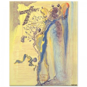"Salvador Dali (1904-1989) - ""Shine of Glorious Bodies"" SOLD OUT Limited Edition Glazed Ceramic Tile"
